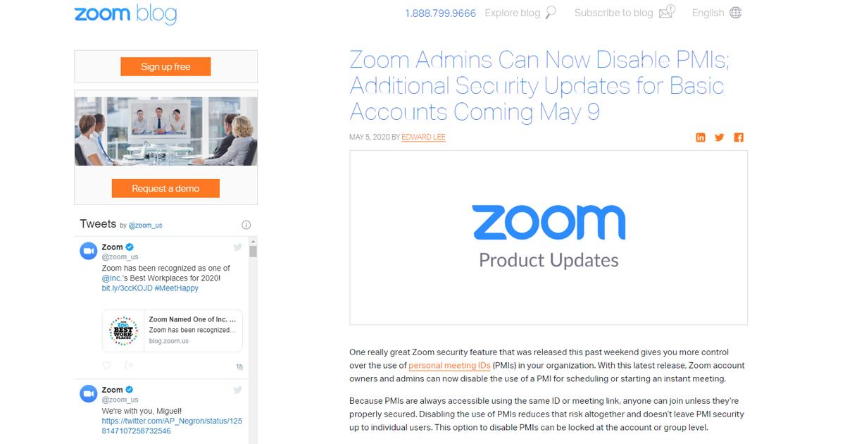 Zoomが信頼回復に向けセキュリティアップデートを連発、Zoom5.0ではAES-GCM(256bit)暗号化も採用、PMIの無効化にも対応