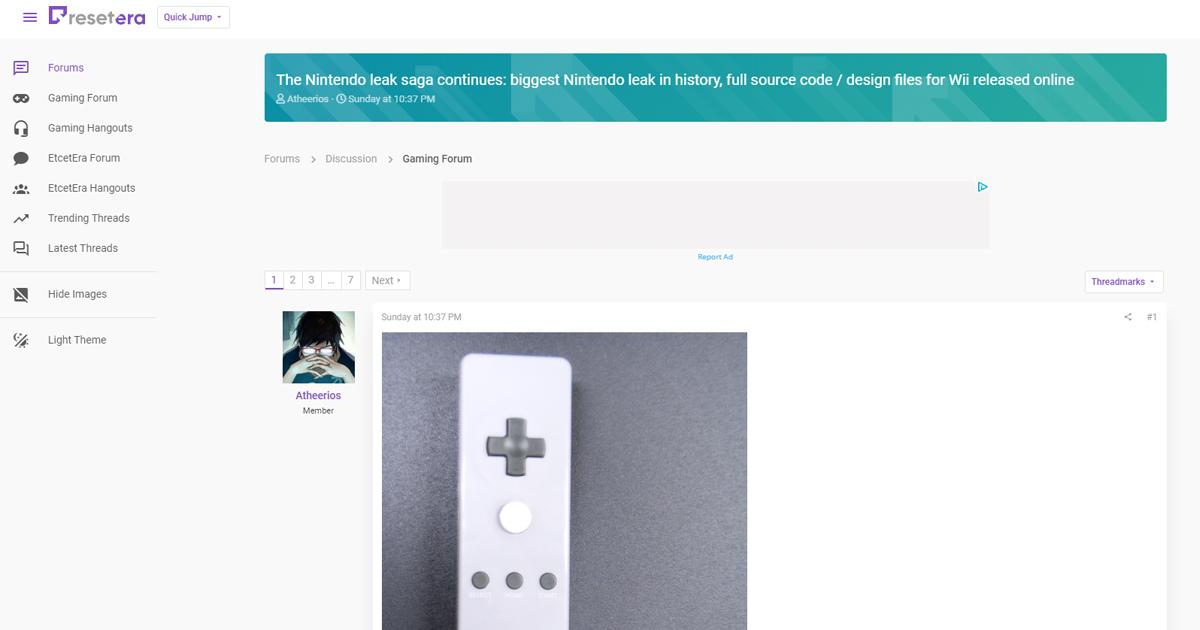 任天堂のWiiの設計情報やソースコードが流出か、ゲームキューブ、N64の情報も